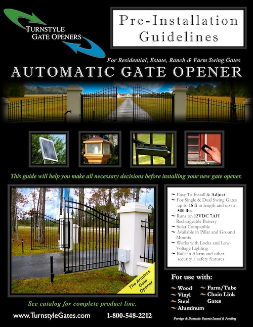 Armless gate Opener Pre-Installation