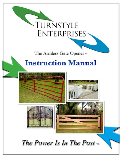 Turnstyle Armless Gate Openers Instruction Manual